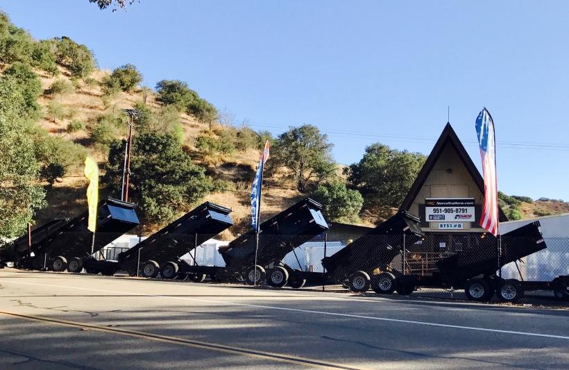 dump trailer trailers sale escondido norco trailers trailer sales dump
